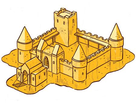 imagequiz parts of a castle
