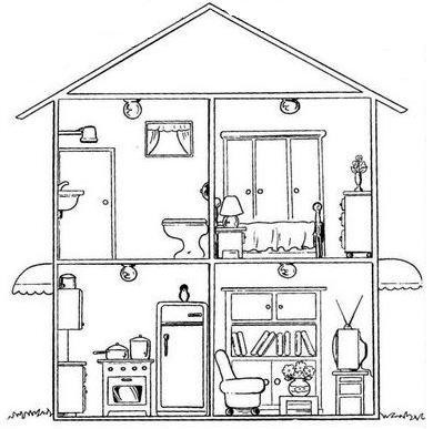 Imagequiz la casa for Cuarto para colorear