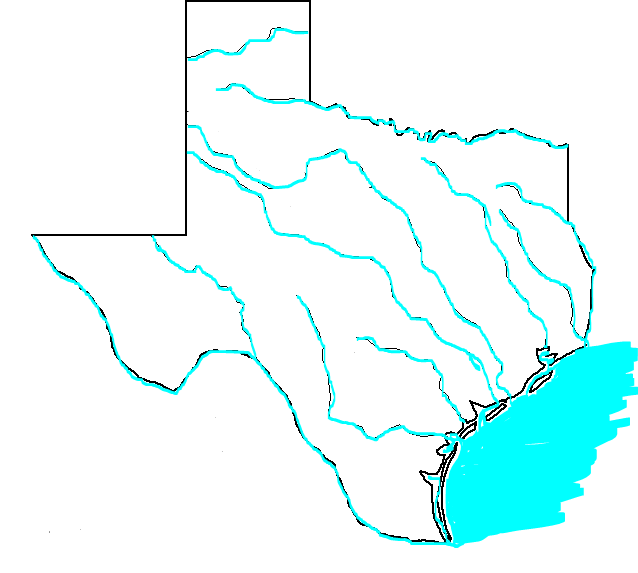 Map Of Texas Quiz.Imagequiz Texas Rivers