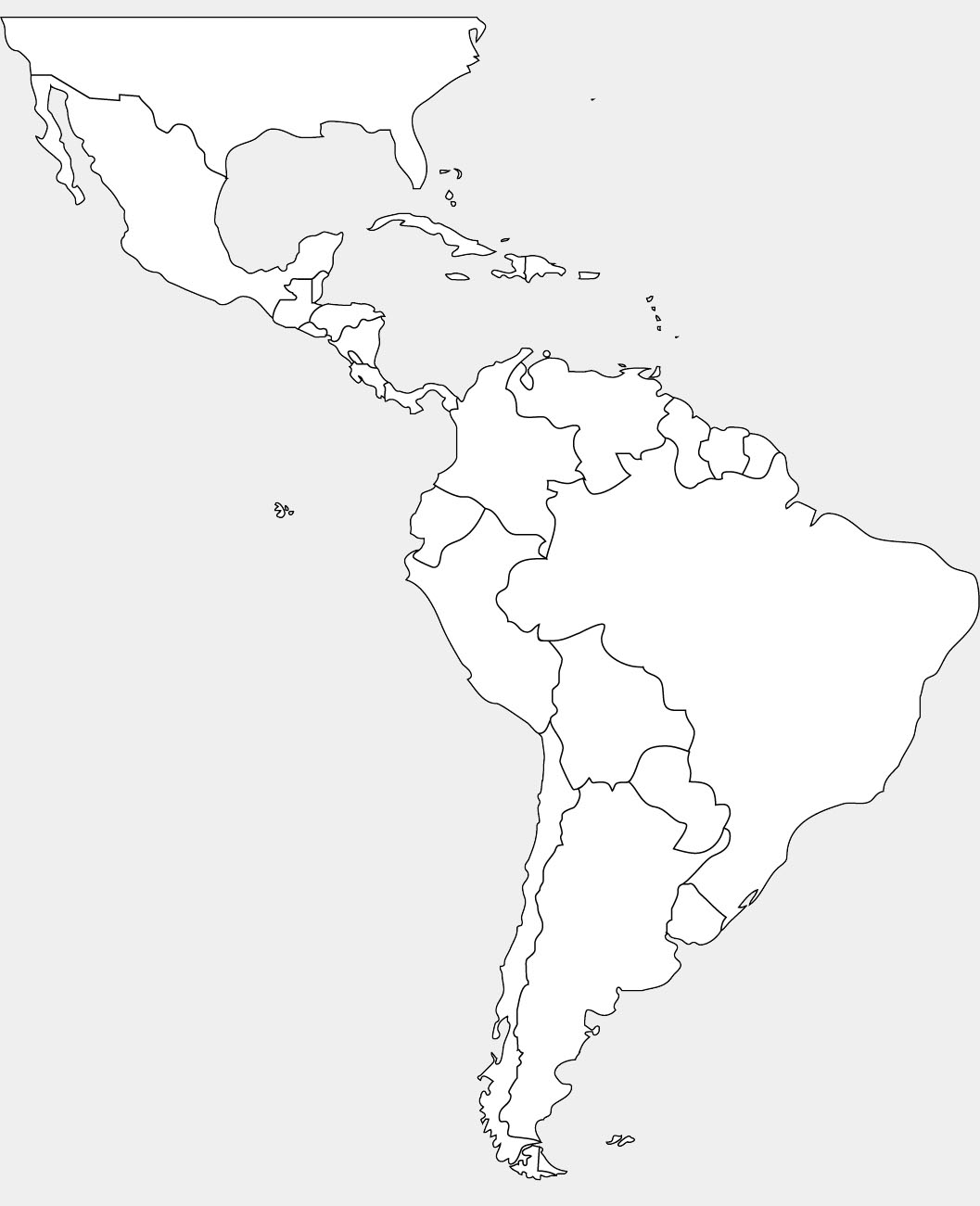 ImageQuiz: South America and Central America Map quiz
