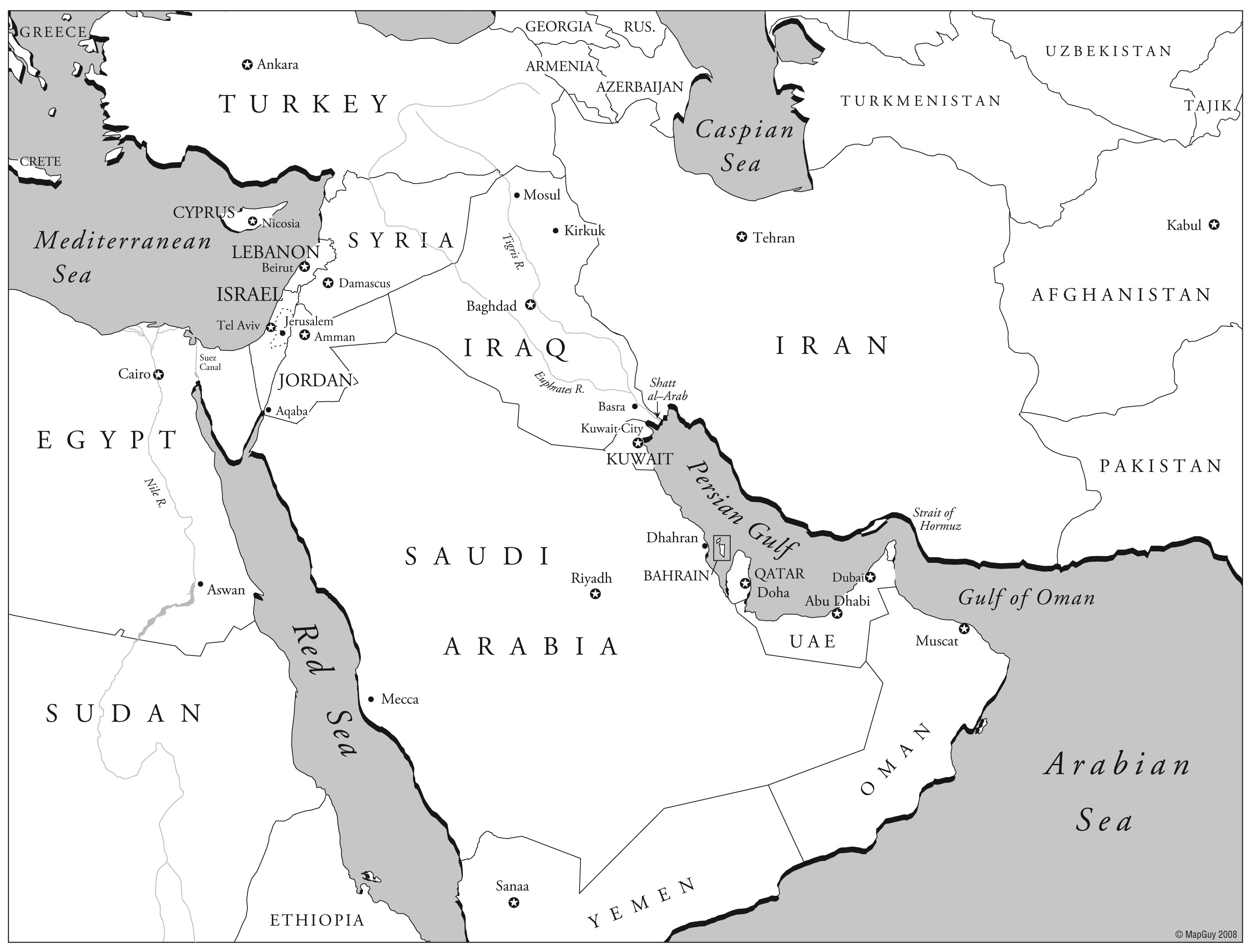 Middle East Map Test ImageQuiz: Map Test: Middle East